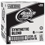 quaker motor oil - Quaker State 550030990-6PK-6PK Synthetic Blend 5W-30 Lubricant Motor Oil - 1 Quart, (Pack of 6)