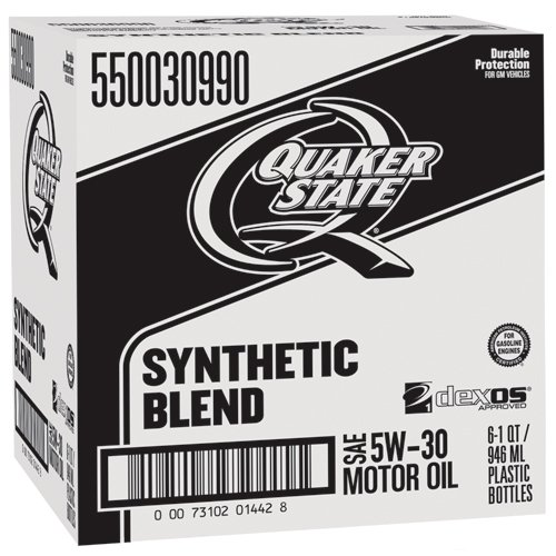 Quaker State 550030990-6PK-6PK Synthetic Blend 5W-30 Lubricant Motor Oil - 1 quart, (Pack of 6)