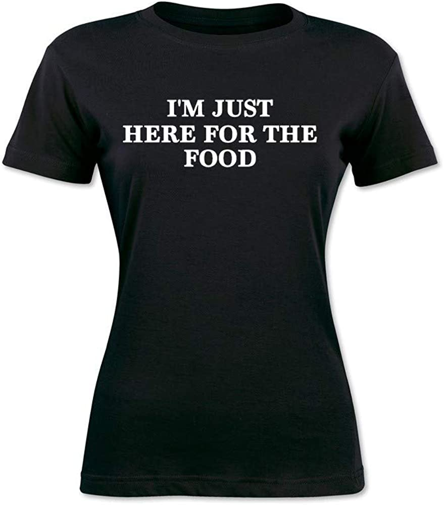 Davina I'm Just Here for The Food Funny Tee Women's T-Shirts
