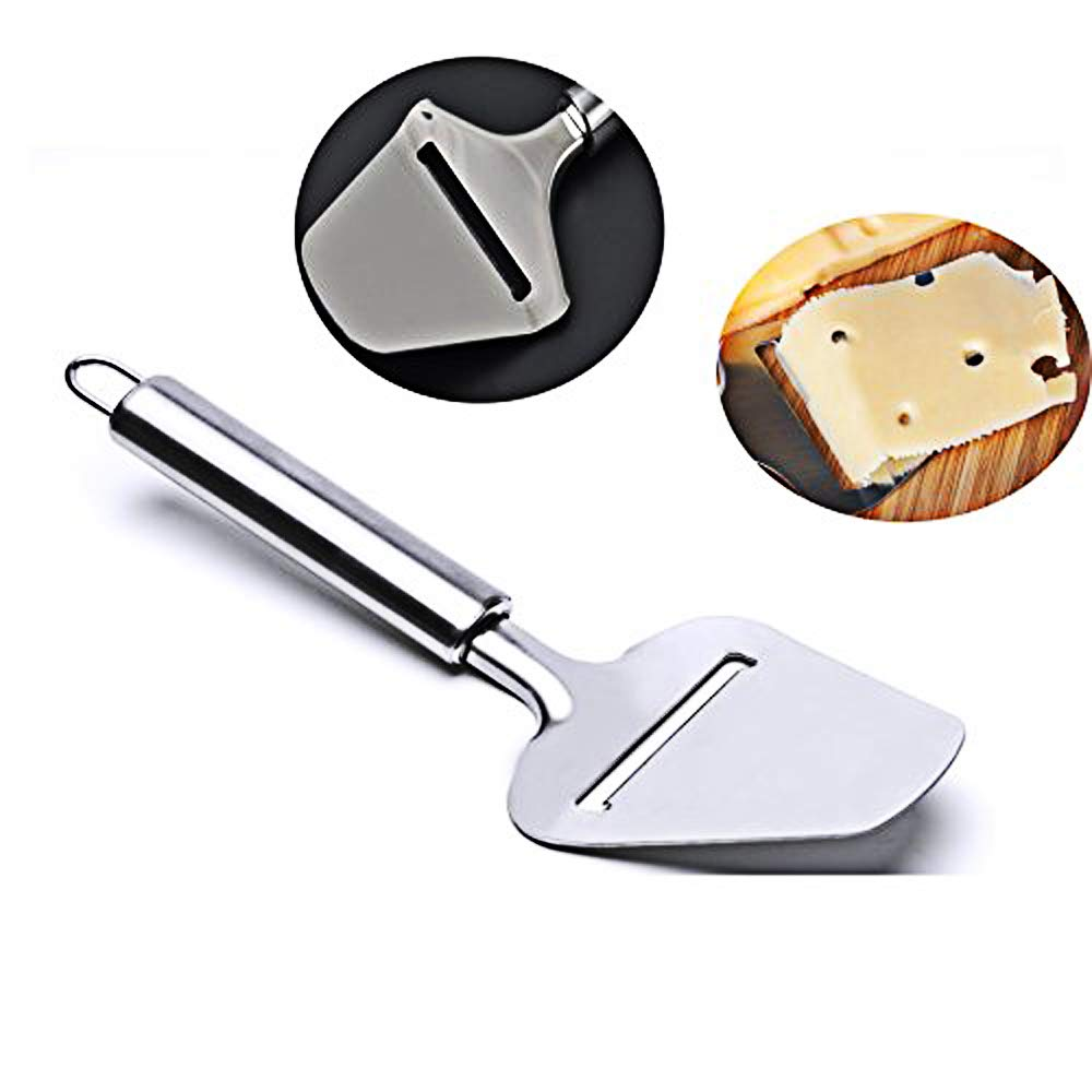 Stainless Steel Cheese Slicer/Plane,Cheese Knife,Cheese Butter Corner Cutter and Pizza Shovel(2 Pieces)