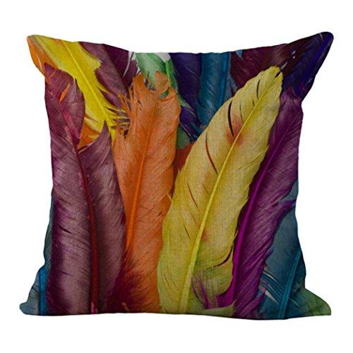 Pillow Case,JUNKE Vintage Home Decor Pillow Case Sofa Waist Throw Cushion Cover (E)