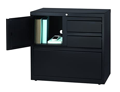 Delicieux Office Dimensions 30u0026quot; Wide File Cabinet And Personal Storage Combo    Black