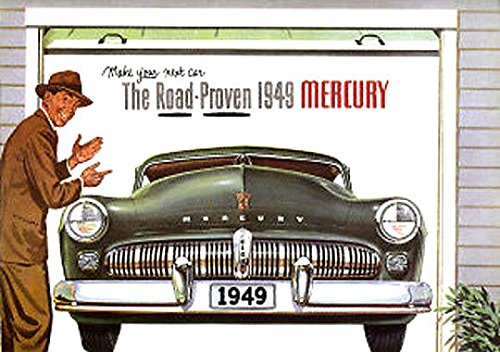 BEAUTIFUL 1949 MERCURY FULL COLOR DEALERHIP SALES BROCHURE - Includes All Mercury Coupes, Sedans, Convertible and Wagons - ADVERTISMENT - LITERATURE 49 ebook