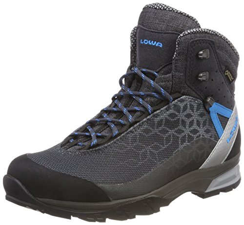 GTX Boots Grey Mid High Lowa WS Lyxa Blue 9743 Anthrazit Women's Rise Hiking fEqq8g