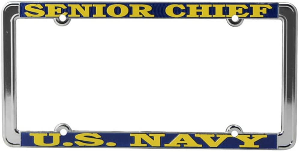 Thin Rim Honor Country US Navy Senior Chief License Plate Frame