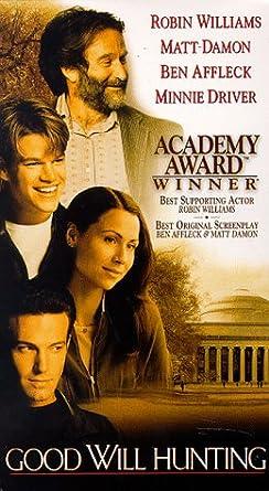 Amazon Com Good Will Hunting Vhs Robin Williams Matt Damon Ben