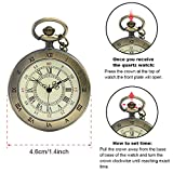 Open Face Pocket Watches for Me Bronze Roman