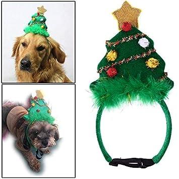Broadroot copricapo di Cane Natale Diadema Festa decorativa albero di Natale accessori per animali Domestici