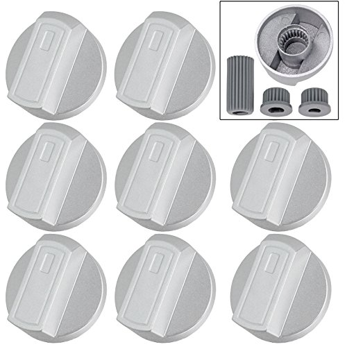 spares2go-hob-control-knob-switch-for-ariston-oven-cooker-pack-of-8-silver