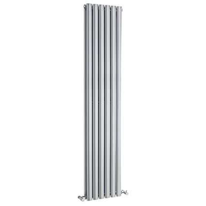 Hudson Reed Vertical Diseño Radiador en plata brillante Revive 1800 mm x 354 mm – 1751