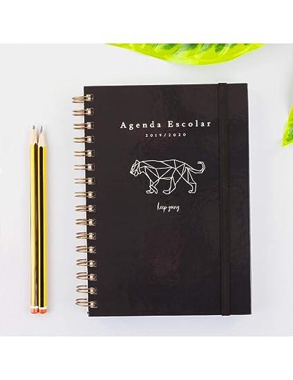Casterli - Colección Positive - Agenda Escolar 2019-2020, Día Página, Tamaño A5 (Tiger)