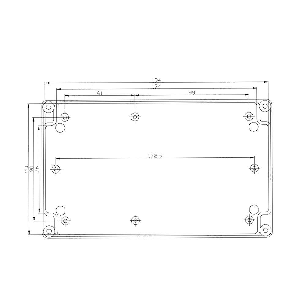 Bo/îte de d/érivation /étanche pour la maison et lindustrie 200 x 120 x 56 mm