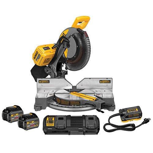 "Mitre Dewalt Saw (DEWALT DHS716AT2 FLEXVOLT 120V MAX 12"" 2-Battery Fixed Miter Saw Kit)"