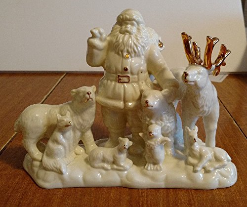 MIKASA HOLIDAY ELEGANCE SANTA & ANIMAL SCENE FIGURINE