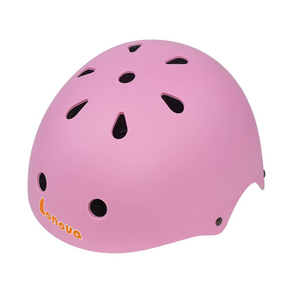 LANOVAGEAR Toddler Helmet CPSC Certified Kids Helmet Impact Resistance Ventilation for Multi-Sports Cycling Rollerblading Skateboarding