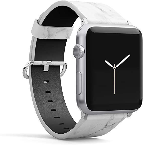 Amazon.com: Watch Band Compatible for iWatch 38mm 40mm PU ...