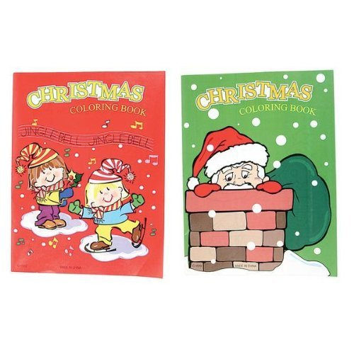 ~ 12 ~ Christmas Coloring Books 6 Red/ 6 Green]()
