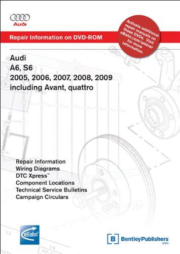 Audi A6, S6 2005, 2006, 2007, 2008, 2009 including Avant, quattro: Repair Manual on DVD-ROM (Windows 2000/XP)