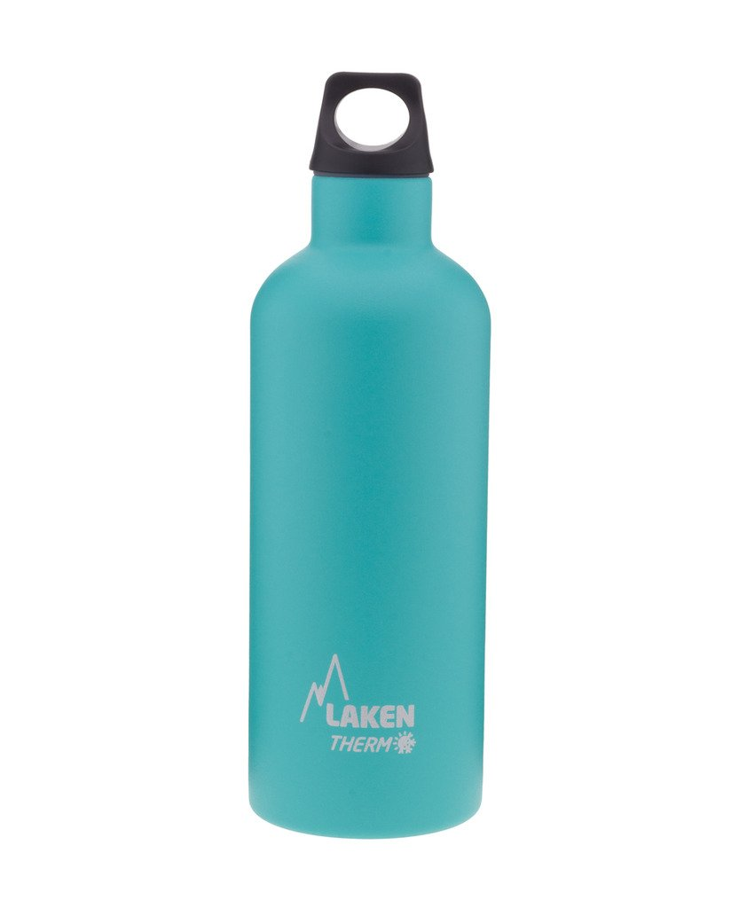 Laken Thermo Futura Vacuum Insulated Stainless Steel Water Bottle Narrow Mouth, Turquoise, 17oz