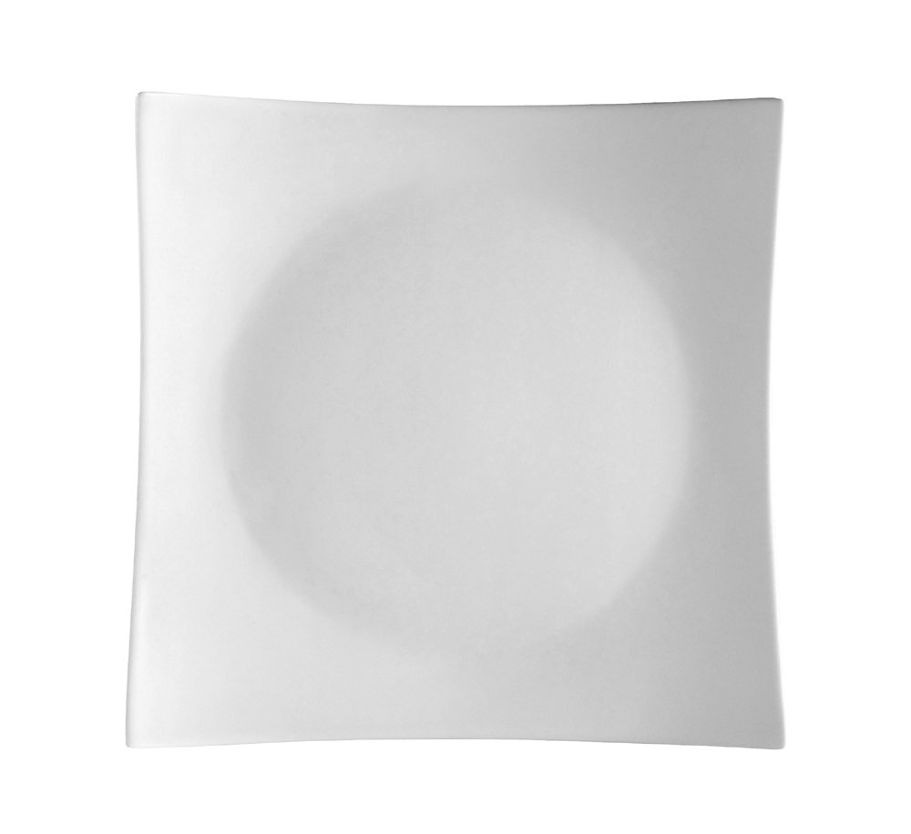 CAC China SHA-6 Sushia 6-1/4-Inch Super White Porcelain Square Plate, Box of 36