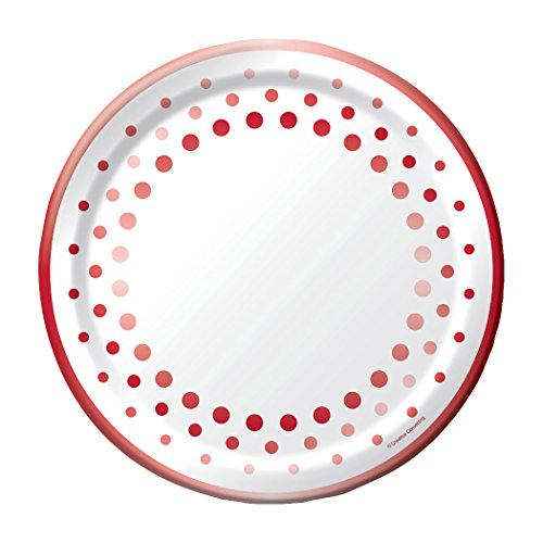 40th Anniversary Plates - Creative Converting Party, Sparkle and Shine Ruby, 10