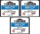 1 gb cf - 3-Pack 1GB Boss Roland BR-CF CompactFlash CF Memory Card for BR-600, BR-864, BR-900CD, MC-808 (3Pack)
