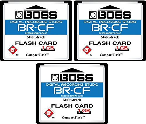 (3-Pack 1GB Boss Roland BR-CF CompactFlash CF Memory Card for BR-600, BR-864, BR-900CD, MC-808 (3Pack))