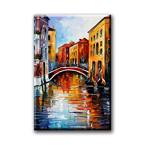 City of Water Venice Print on Canvas Italian City Oil Painting Frameless Artwork