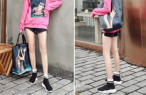 Snekers Zapatos Partido Alto top Calcetines Sport Botines 39 Eu Mujeres 35 Tamaño Color Casual White Elasticidad UvwXqzw