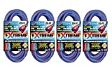 U.S. Wire 25-Foot Blue Cold Weather Extension Cord with Lighted Plug (4-Pack)