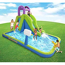 MAGIC UNION Magic Time Tornado Twist Inflatable Water Slide and Splash Pool