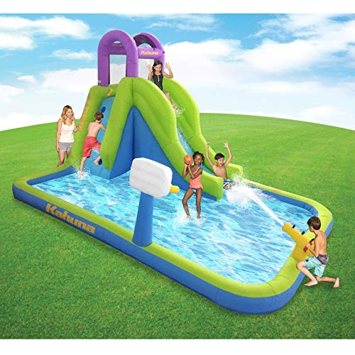 MAGIC UNION Magic Time Tornado Twist Inflatable Water Slide and Splash ()