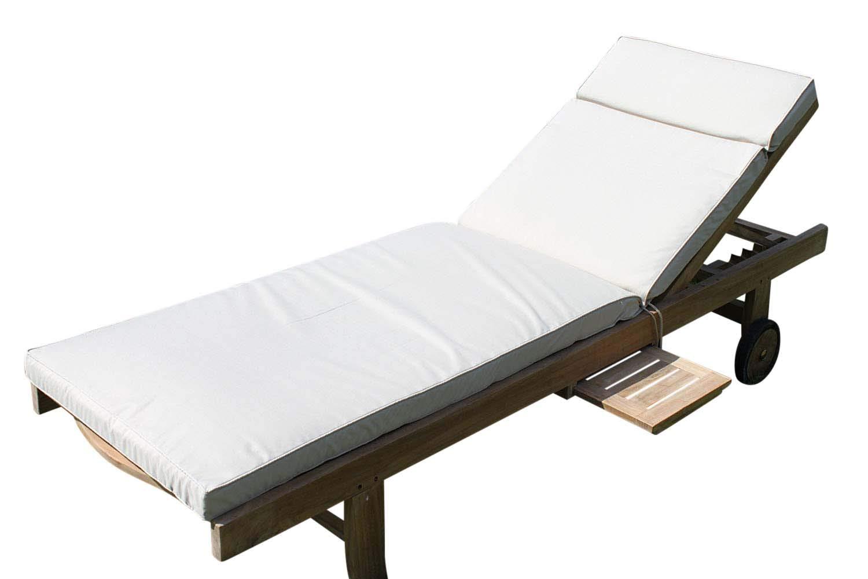 Mobili da giardino cuscino - cuscino per sedia a sdraio sedia Beige chiaro Olive Grove