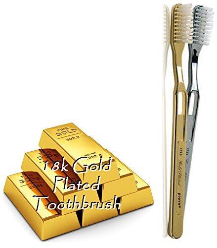 Piave Golden Plated Toothbrush Tynex Bristle Medium, Gold -