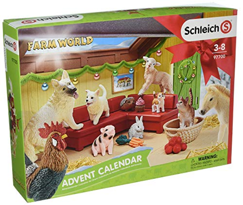 Schleich Farm World 2018 Advent Calendar Toy, Multicolor
