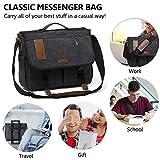 Messenger Bag, 17 in Laptop Bag Vintage Water