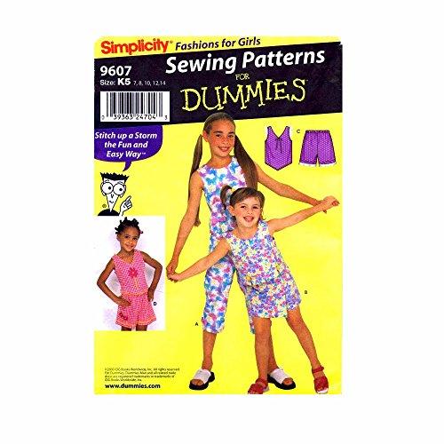 Simplicity 9607 Girls Top Pants Skort Shorts Dummies Sewing Pattern Size 7 - 8 - 10 - 12 - 14 (Vintage Skort)
