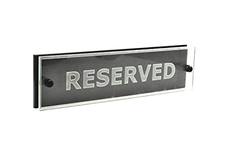 reserved signs for tables ideal for restaurants bars cafes
