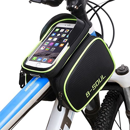 Triangle Cycling Bike Bicycle Front Tube Frame Pouch Bag(Blue) - 9