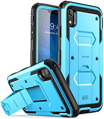 "i-Blason Armorbox Series Case Designed for iPhone XR 2018 Release, [Built in Screen Protector] Full Body Heavy Duty Protection Kickstand Shock Reduction Case, 6.1"" (Pink)"