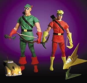 Amazon Com Dc Direct Deluxe Action Figure Set Green Arrow