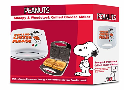 Smart Planet SGCM‐2 Peanuts Snoopy and Woodstock Grilled Cheese Sandwich Maker, White by Smart Planet (Image #5)