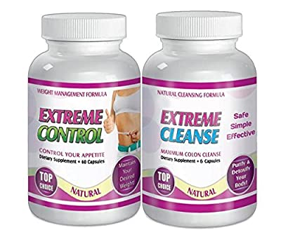 Extreme Cleanse Control Weight loss Diet System Kit 30 Day Supply All Natural