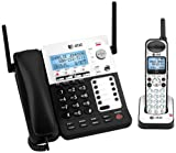 AT&T SB67118 DECT 6.0 Corded/Cordless Phone, Black/Silver, 1 Base and 1 Handset