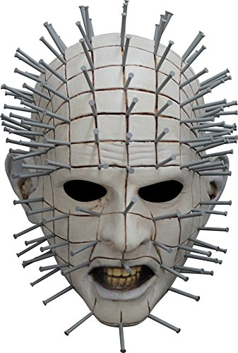 Hellraiser Pinhead Mask (UHC Men's Horror Hellraiser III Pinhead Latex Mask Halloween Costume Accessory)