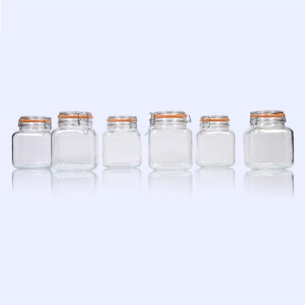 Global Amici Borgonovo Hermetic Jar - Set of 6
