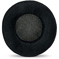Brainwavz ROUND Replacement Memory Foam Earpads - Suitable For Many Other Large Over The Ear Headphones - Sennheiser, AKG, HifiMan, ATH, Philips, Fostex, Sony (Black-Velour)