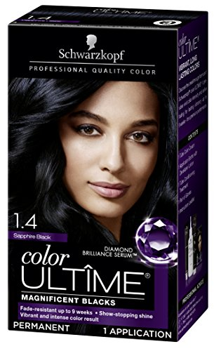 Schwarzkopf Color Ultime Hair Color Cream, 1.4 Sapphire Black (Packaging May Vary) (Best Professional Blue Black Hair Dye)