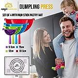 Magic Dumpling Maker Press Set of 4 Molds