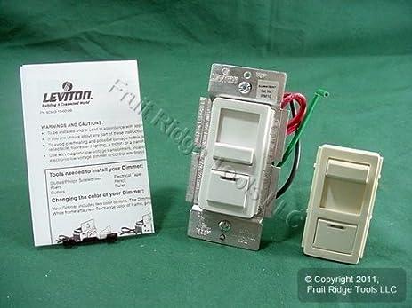 Leviton White Preset Dimmer Light Switch 3Way Mag LowVolt